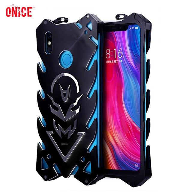 Xiaomi mi 8 حالة الألومنيوم المعدنية الوفير للصدمات جراب هاتف على Funda Xiomi مي 8 se mi8 حالة درع حماية حالة غطاء الرجال