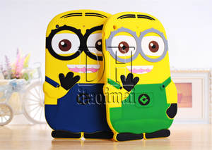 Stand Cover For Ipad 2 3 4 Cute Cartoon Model Despicable Me Yellow Minion