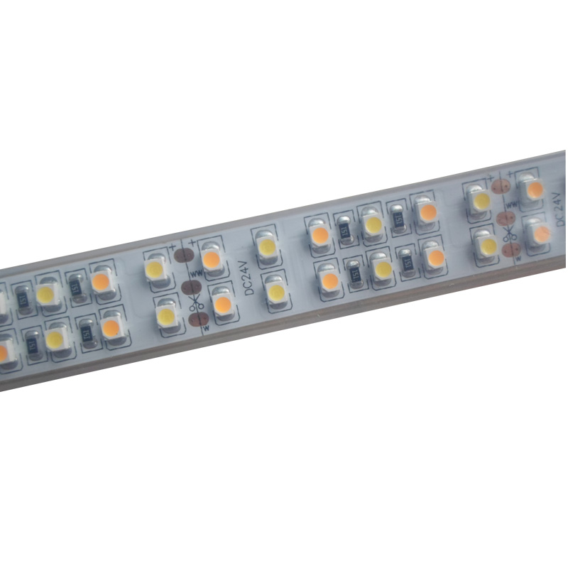 5mX Supper brightness 3528SMD LED strip light DC24V input 240LED m Cool White Warm White CCT