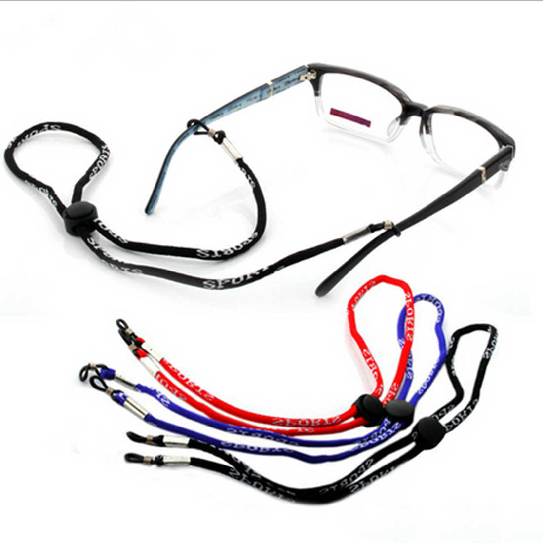 24dacffcb83 New Adjustable Sunglasses Neck Cord Strap Glasses String Lanyard Holder 1Pc  New Leather Eyeglass Cord Adjustable