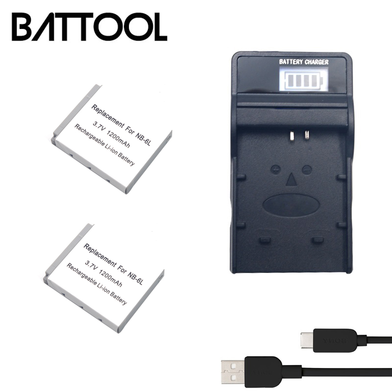 2 X Batería NB-6L NB-6LH Canon Powershot D30 SX510 SX610 SX700 SX710 HS