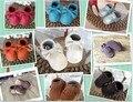 Новый 30 цвета бахромой лук Натуральная Кожа Детские Мокасины мягкие Детская Обувь Первые Ходок Chaussure Bebe новорожденные обувь бесплатная доставка