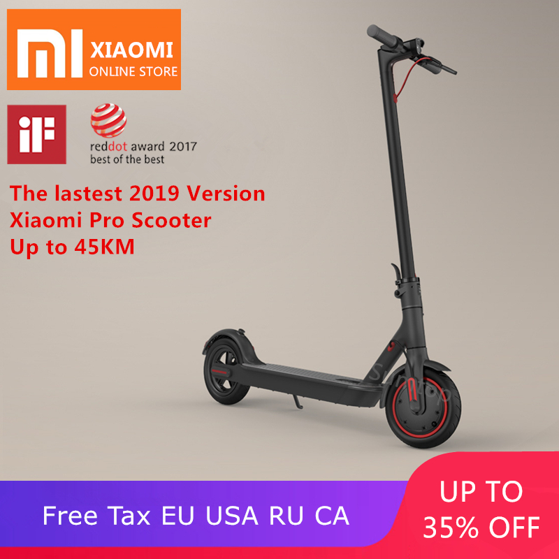 US $421 13 34% OFF|2019 new original Xiaomi mijia M365/Pro mi adult  electric scooter longboard hoverboard skateboard 2 wheel patinete 45KM  mileage-in