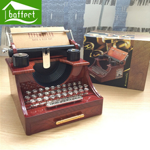 Retro plastic typewriter music box Good quality beautiful as gift for girl lady women boy and man enalife enl-33