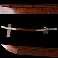 Handmade Red Samurai Sword Blade Folded Steel Blade Japanese Samurai Sword Wakizashi Sharp Edge Delicate Metal Craft