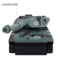 Abbyfrank 1:22 RC Tank Battle RC Fighting Toy Tank Model Classic R/C Radio Remote Control Tank 360 Rotation Music LED Toys
