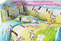 Promotion! 6/7PCS horse baby bedding set cotton curtain crib bumper baby cot sets baby bed bumper ,Duvet Cover , 120*60/120*70cm