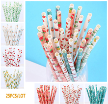 birthday decoration valentines 25pcs Straw Drinking Paper Straws bachelor party children decorations for Summer