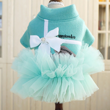Плюшевое платье принцессы; платье для маленькой собаки из померанского бишона; милое кружевное платье-пачка для щенка; сезон весна-лето