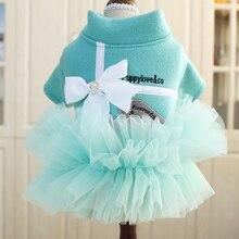 Платье принцессы Тедди Померанский Bichon наряд для маленьких собачек милый щенок Весна и лето кружева пачка
