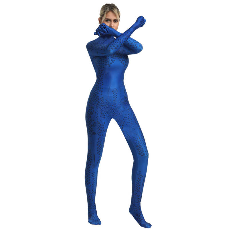 X-男性ミスティークカラス Darkholme 衣装コスプレスーパーヒーロー衣装ジャンプスーツボディスーツスーツハロウィーンの衣装大人の女の子