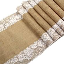 METABLE 1PCS Natural Jute Hessian Burlap Table Runner Roll For Rustic Wedding Bridal Shower Festival Party Event
