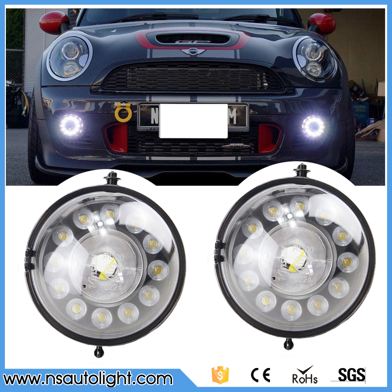 One Pair Led Daytime Running Light DRL Fog Lights For Bmw Mini Cooper R55 R56 R57 R58 R59 R60 12Leds Super Bright 12V набор приспособлений для обслуживания грм двигателя bmw n12 mini cooper jonnesway al010079