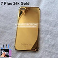 Free DHL 24kt Gold Back housing for Iphone 7 Plus 24k Mid Frame Bezel Battery Door with Logo&Buttons&Sim Tray for 7 5.5inch
