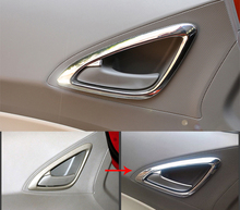 4pcs ABS for Chevrolet sail 2010-2014 inside Door handle Light cover Frame sticker
