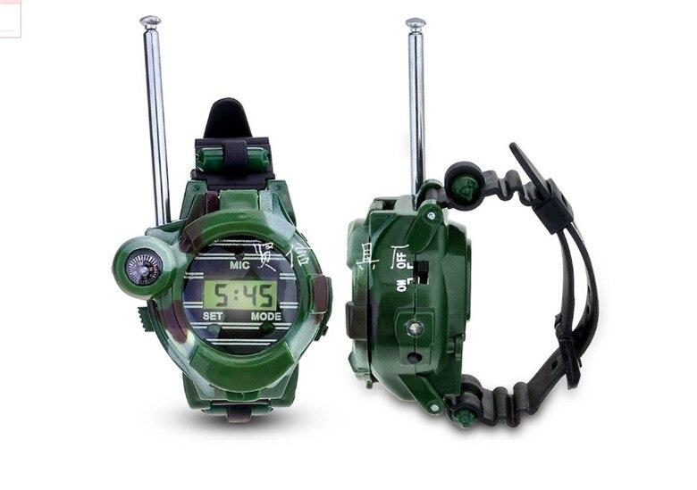 Горячая 2 шт Интерком игрушка часы электронные наручные двухстороннее радио Walkie Talkie Дети переговорные игрушки подарок