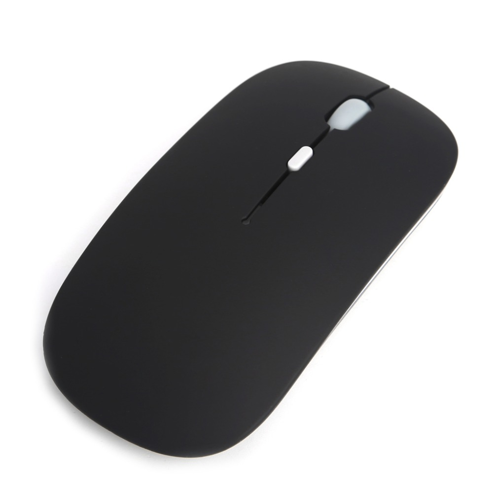 лучшая цена 2.4Ghz Wireless Mouse USB Rechargeable Silent Mute Slim Optical Mouse For Laptop PC Computer D14