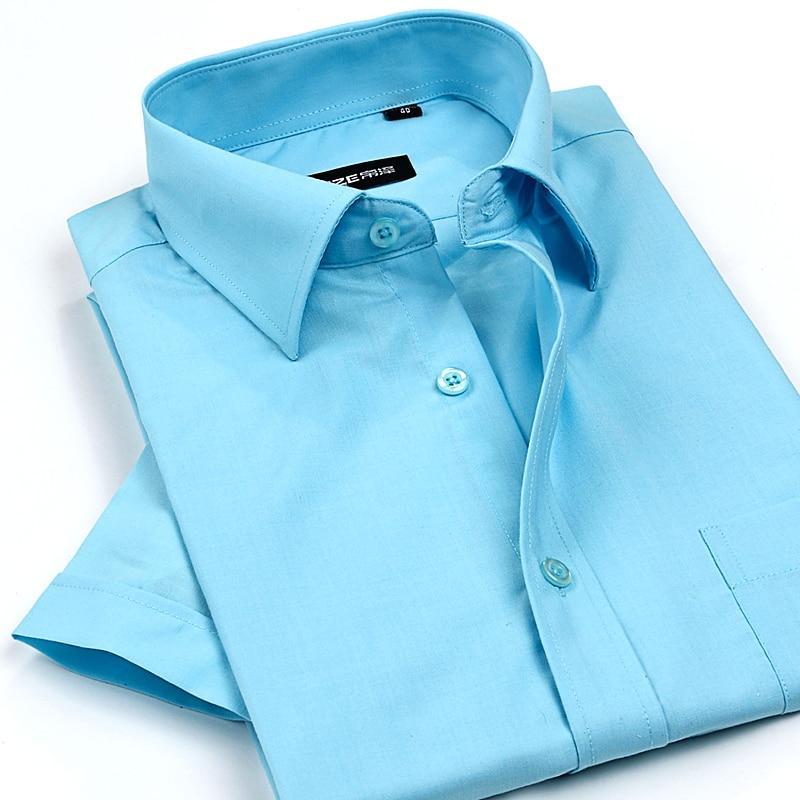Бесплатная доставка 2017 новый летний мужской деловой тонкий рубашка с коротким рукавом рубашки