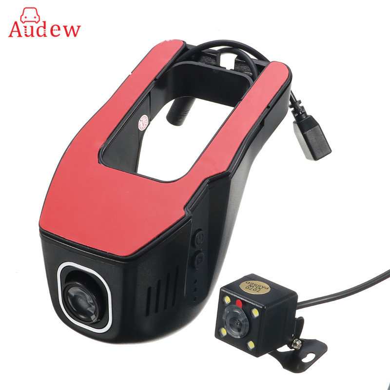 Dual Lens WIFI Car DVR Mini Wifi Car Mirror Camera Dash Cam Registrator Smartphone APP Control Video Recorder Camcorder Dvrs for kia carnival car driving video recorder dvr mini control app wifi camera black box registrator dash cam original style page 2