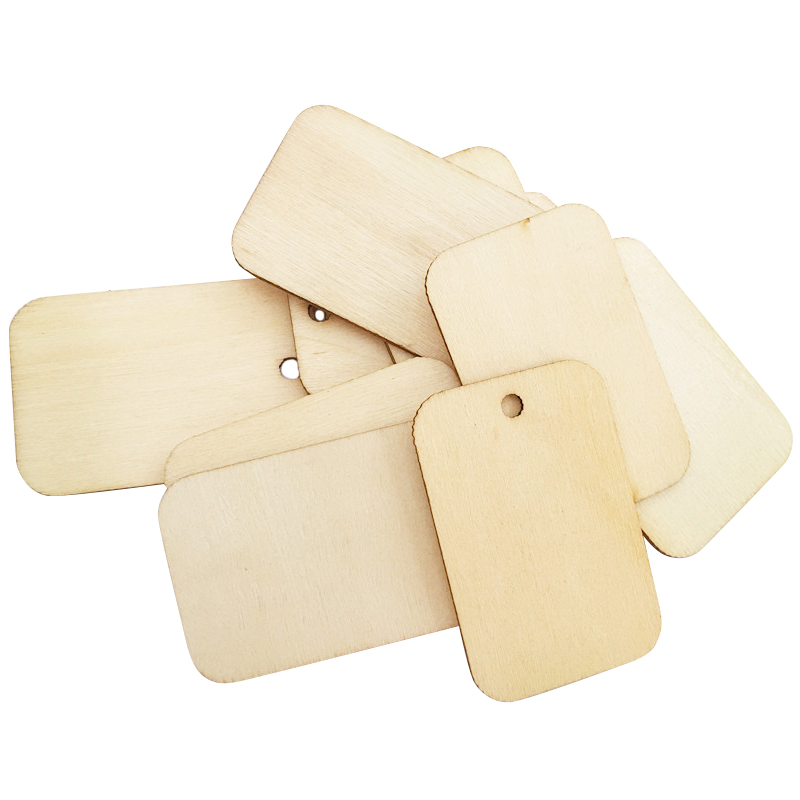 25/50/100pcs Wooden Label Eco-friendly Decorations Blank Wood Rectangle Tags 669