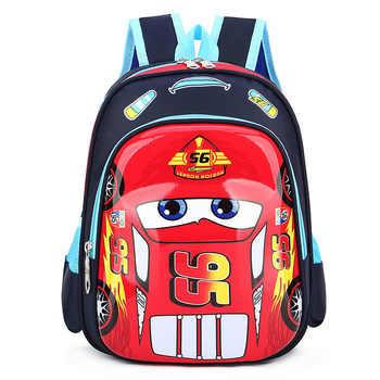 Disney car Kid Cartoon McQueen bag for School children kindergarten backpack boy girl handbag book bag