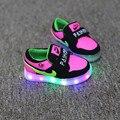 Luzes LED coloridas Sapatos Meninas Menino Crianças Sapatilha Primavera Crianças Sneakers Enfant Tênis de Flash Presente Quente Do Bebê Luminosa