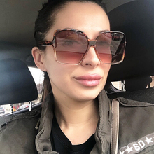 COOLSIR Oversize Square Sunglasses Women Frame Gradient Shades 2019 Summer Style Classic Sun Glasses Female