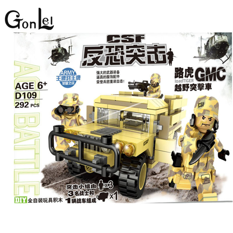 GonLeI SWAT Army Military Soldiers Guns Building Blocks Bricks compatible With lepin star wars toys for children gift 1711 city swat series military fighter policeman building bricks compatible lepin city toys for children