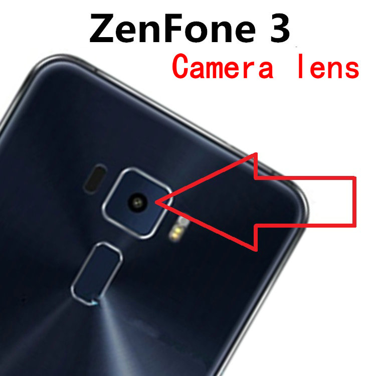 2pcs/lot Coopart New Back Rear Camera Lens Glass For Asus ZenFone3 ZenFone 3 ZE552KL With Sticker Top Quality