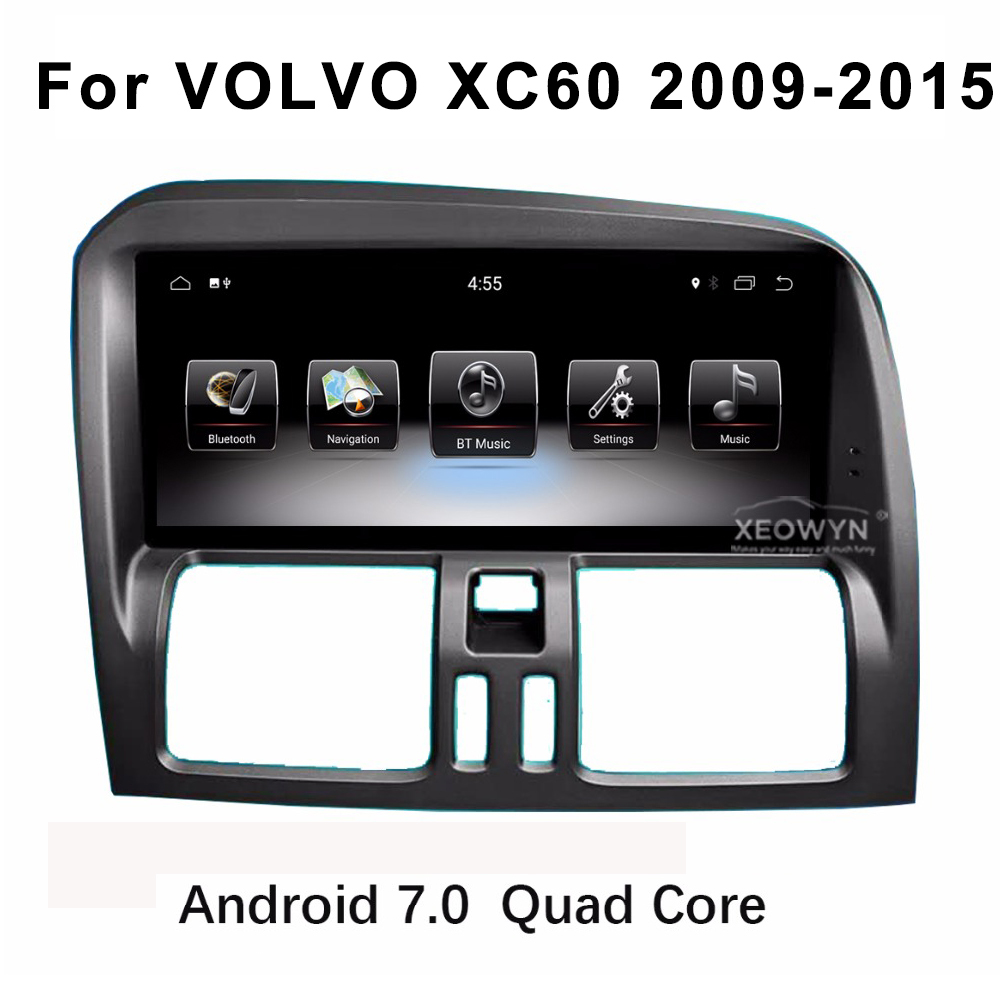 8.8inch Quad Core RAM2G Android 7.0 Car Radio Stereo For Volvo XC60 / S60 2009-2015 GPS Navigation Support trip informaiton