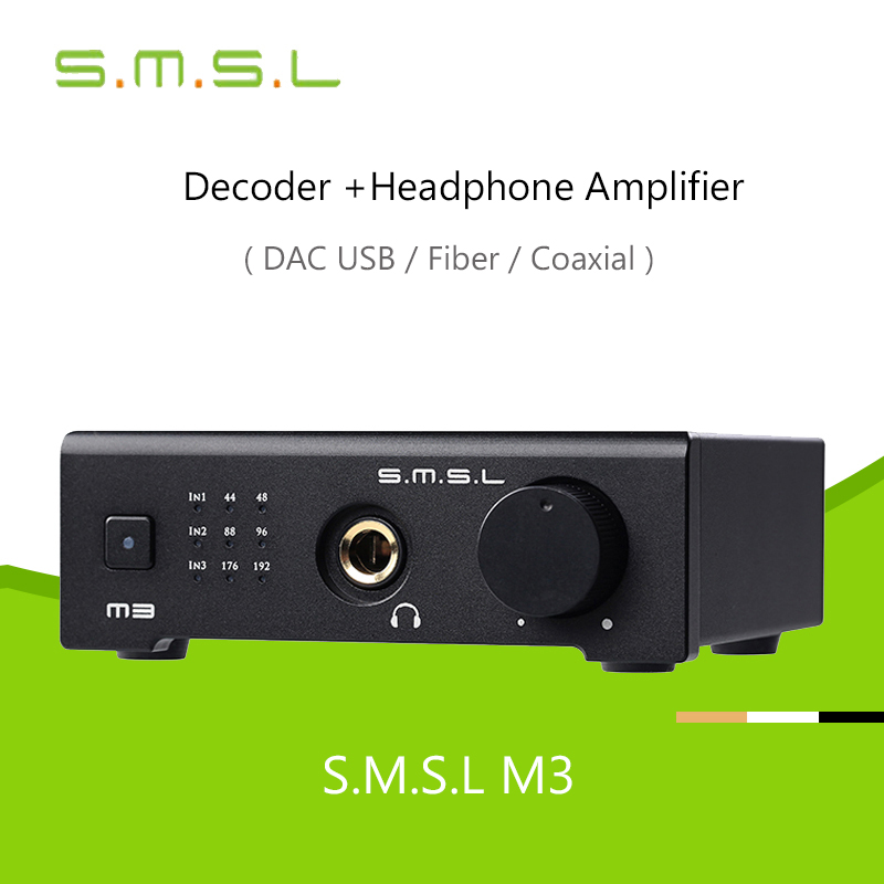 USB DAC SMSL M3 Decoder Headphone Amplifier AMP CS4398 OTG/PC USB/Optical/Coaxial All-in-one Hifi 24Bit 96KHZ Hd For Hifi Audio cs8416 cs4398 dac diy kit with usb coaxial 24 192k decoder kit ac15v 32k 192k 24bit for hifi amplifier