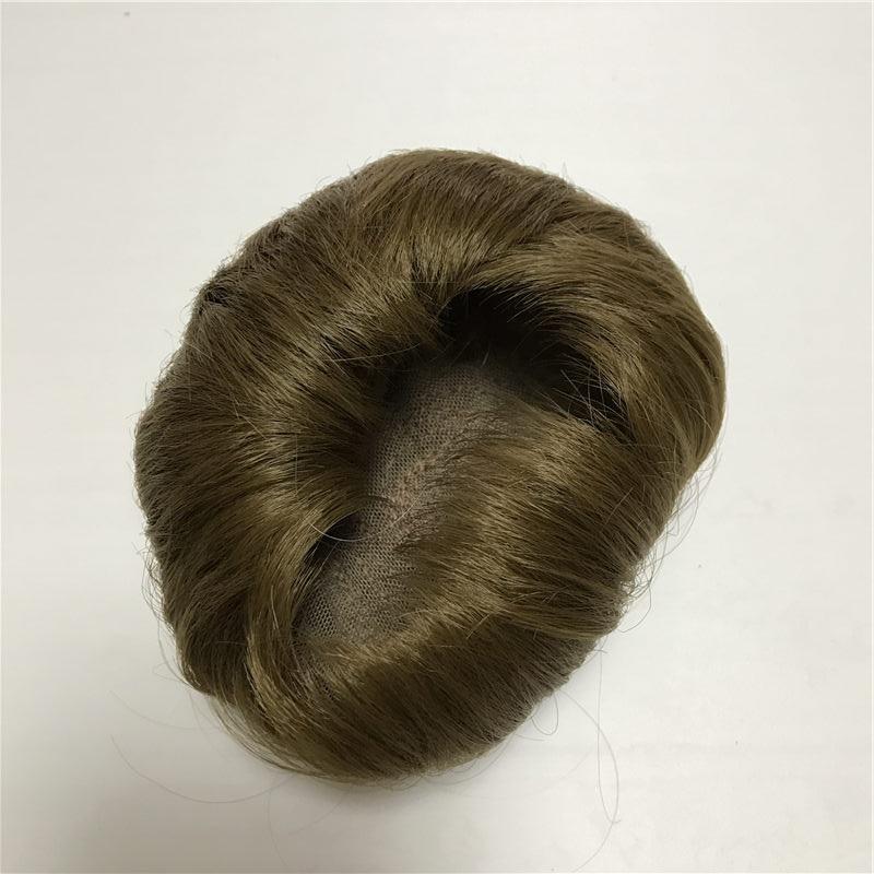 For 40-45cm Reborn Doll Light Brown Sticked Hair Wig 17-18 Inch Doll Reborn Hair DIY NPK Doll Accessories