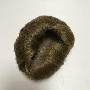 Przez 40-45 cm Reborn lalka światła brązowy przykleić włosy peruka 17-18 cal lalki Reborn włosów DIY NPK akcesoria dla lalek