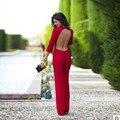 Manga longa bodysuit macacões combinaison femme sexy vermelho solto jumpsuit macacões elegantes backless bodysuit elegante macacão 10