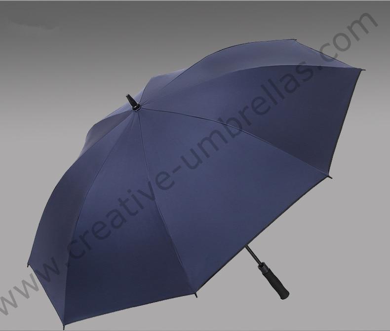 3pcs/lot 135cm 4 persons Anti UV five times black coating fiberglass auto open business anti-thunder outdoor sport golf umbrella