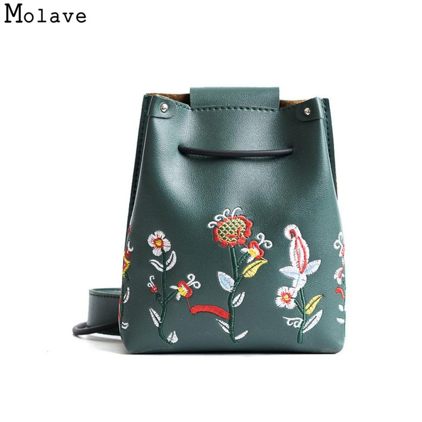 Naivety PU Leather Women Handbag Retro Flower Embroidery Bucket Bag Simple Floral Crossbody Shoulder Purse 28S7831 drop shippingNaivety PU Leather Women Handbag Retro Flower Embroidery Bucket Bag Simple Floral Crossbody Shoulder Purse 28S7831 drop shipping