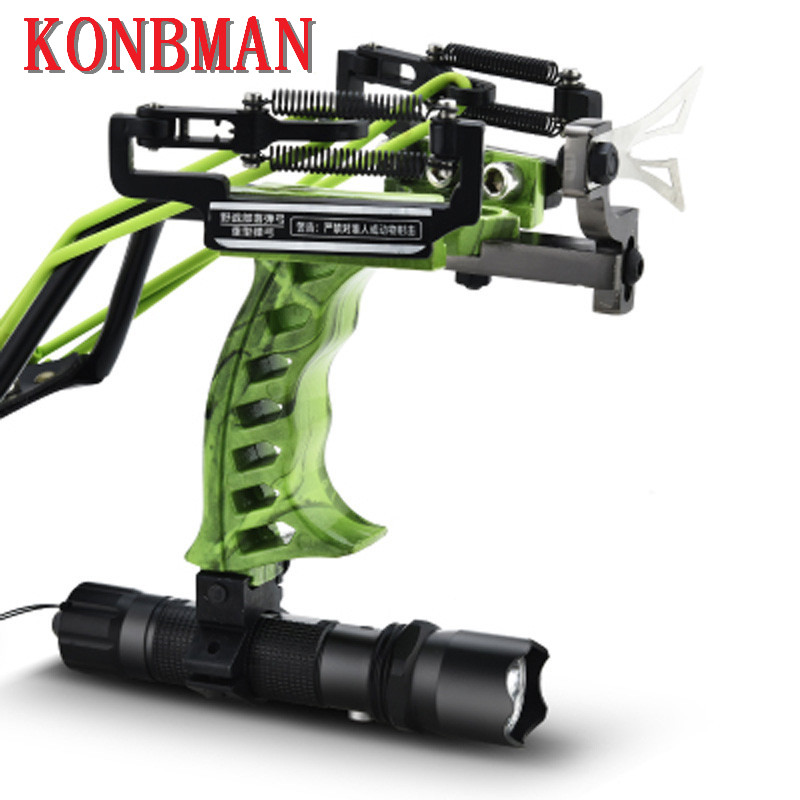 Fishing Bow With Laser Slingshot with Flashlight Hunting slingshot Fishing Catapult Outdoor Powerful Slingshot Compound Bow-in Bow & Arrow from Sports & Entertainment    1