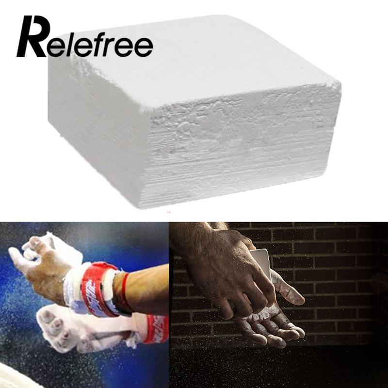 1pcs Barbell Weightlifting Gymnastic Sports Chalk Anti-Slip Magnesium Weight Lifting Carbonate Chalk Hand Powder Gym Equipment