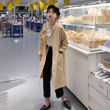 Новинка, весенне-летний Женский Повседневный Тренч, винтажная вытертая верхняя одежда, свободная одежда, Тренч с длинным рукавом
