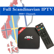 Swedish IPTV H96 RK3229 Quad core Android 6.0 TV Box 1G/8G HDMI 2.0 WIFI 4K 1080P H.265 Norway Sweden Denmark Scandinavia(China)