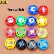 JCD 2 chiếc Ốp Analog Joystick Dính Cầm Mũ Lưỡi Trai Nintend Switch NS JoyCon Bộ Điều Khiển Joystick dành cho Niềm Vui Côn