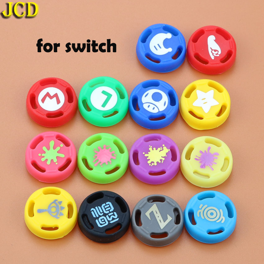 JCD 2pcs Silicone Analog Joystick Stick Grips Caps For Nintend Switch NS JoyCon Controller Joystick Cover for Joy Con-in Replacement Parts & Accessories from Consumer Electronics