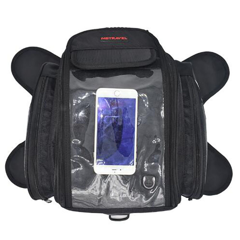 ФОТО Motorcycle Tank Bag Travelling Helmet Bag Tail Box Waterproof Moto Backpack 4 Pockets Magnetic Motorcycle Luggage Bags Tool Bag