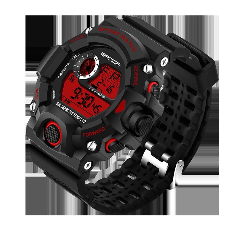 Prix pour Choc de luxe Quartz Analogique Numérique Mens Montre 2017 Nouvelle Marque SANDA Mode Montre G Style 50 M Étanche Sport Militaire montres