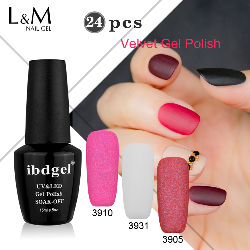 vendita all'ingrosso 24 Pz Velvet Gel ibdgel Gel Need Base Coat Matte - Manicure