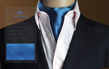 Mens Fashion Vingtage Style Woven Double-faced Elegant Paisley Pattern Embroidery Cravat Silk Scarf - Factory Outlet