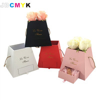New design flowrist packing flowers gift box,weddiing party decoration box include drawer chocolate candy favous gift paper box