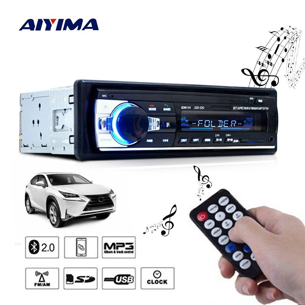 Tragbares Audio & Video Treu Aiyima Mini Multifunktions 1 Din Bluetooth 2,0 Auto Audio Mp3 Player 12 V 24 V Wav Wmv Sd Usb Aux Fm Radio Musik-player
