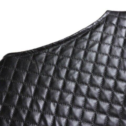 Press Cotton Leather Jackets Women Long Sleeve Autumn Winter Coat 2018 Black White Patchwork Slim Short Jackets with Zippers X3 Multan