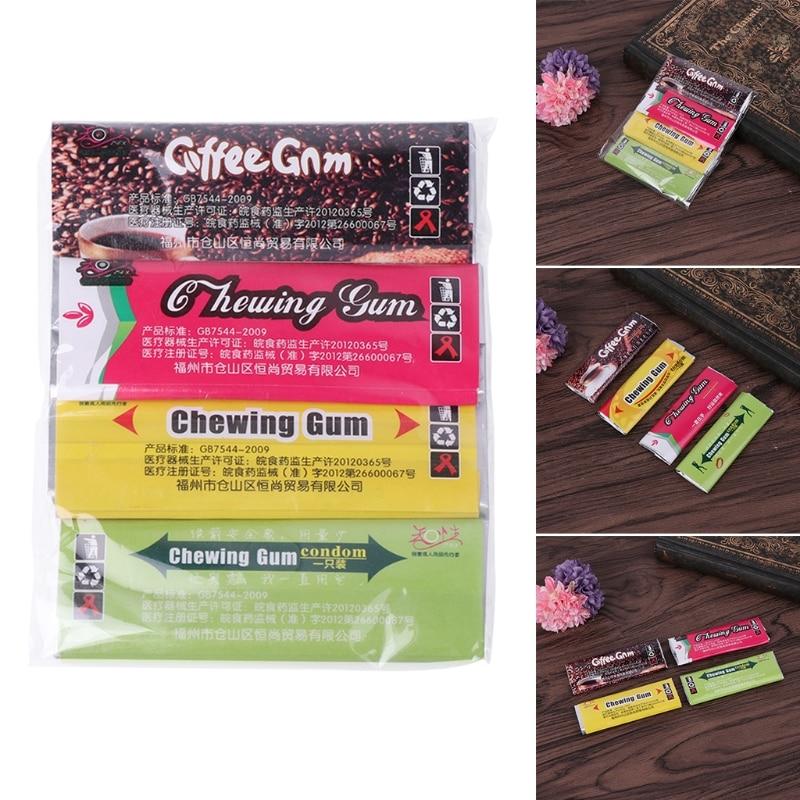 Sex Products 4pcs Novelty Condom Chewing Gum Condoms Candy Design Condoms Cute Adult Sex Gift Condoms
